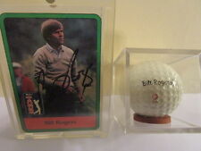 British Open Winner Bill Rogers Signature Golf Ball and Autographed Card combo