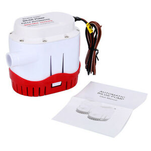 12V 2000GPH Auto Submersible Boat Bilge Pump Built-in Float Switch US Free Ship