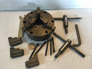 """Buck 4"""" 3- Jaw Lathe Chuck With Extra Jaws"""