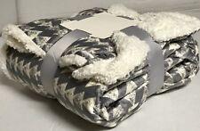 "Sherpa Throw Luxury Blanket Twin Size 60""x80"" Reversible Velvet Flannel 3.8lbs"