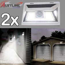 2x Solar Power LED Motion Sensor Light 10w Waterproof Outdoor Garden Wall Lamp