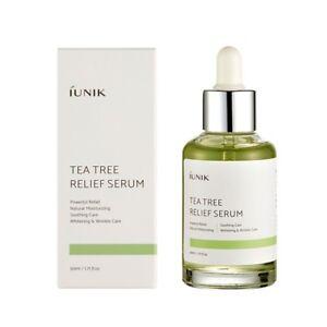 iUNIK Tea Tree Relief Serum 50mL Korean skincare - acne - soothing - oil balance