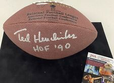 Ted Hendricks Signed Football Mini Football HOF 90 JSA Raiders NFL Wilson