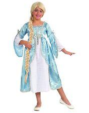 Princess Of The Tower Girls Child Blue Royal Rapunzel Costume