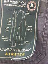 NWT G. H. Bass & Co Mens Canvas Terrain Pants Relaxed Fit New 36 X 30.