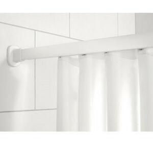 impey White Shower Curtain Weighted Hem Available In 12 Sizes 100% Polyester
