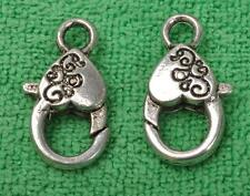 10pcs tibetan silver 3D  Lobster hooks Jewelry Findings Claw Clasps 26MM