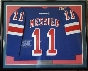 Mark Messier Autographed Rangers Jersey from Steiner LTD ED of only 111