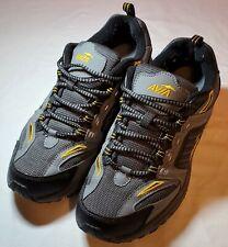 Men's Avia Terrain Trail Hiking Walking Athletic Shoe - Size 9.5 - Gray Yellow