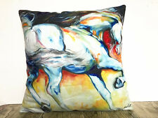 1x Simple painting horse Home Decor sofa car Cushion Covers Pillow Case 18X18'