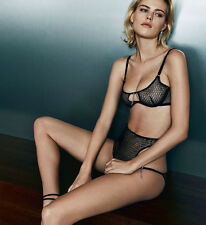 AGENT PROVOCATEUR MADGE BRA & BIG BRIEF SET 32DD SMALL 8-10 AP 2 BNWT RRP £260