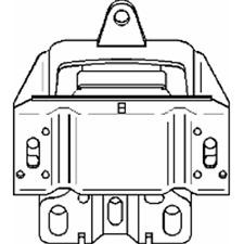 Lagerung Motor links - Topran 107 971