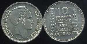 10 francs 1949   petite tete SPL