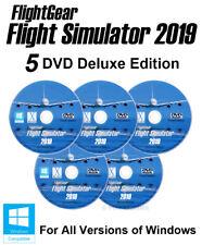 Flight Simulator 2019 X DELUXE Edition Pro Flight Sim Windows 10 8 7 PC 5 x DVD