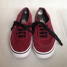 Vans Trainers Burgundy - Dark Red Size US 6 Mens US 7.5 Women Off the Wall Shoes