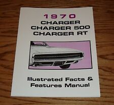 1970 Dodge Charger Illustrated Facts Features Manual Brochure 70 500 RT