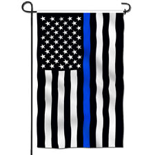Anley Thin Blue Line Usa Garden Flag Decorative Flags Double Sided 18x12.5 Inch