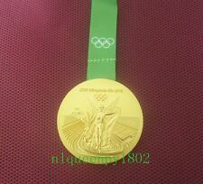 2016 Brazil Rio Olympic Winners Gold Medal With Ribbon Souvenir Gift ++++++++