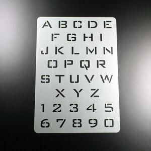 A5 Schablone Alphabet Buchstaben Satz A - Z Großbuchstaben Majuskeln - BF507
