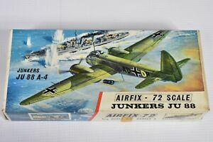 VINTAGE BNIB SERIES 3 AIRFIX RED STRIPE 72 SCALE MODEL JUNKERS JU 88 Ju.88