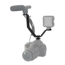 Triple Mount Bracket for LED Flash Light Mic GPS to DSLR Camera 3 HOT SHOE