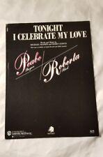 TONIGHT I CELEBRATE MY LOVE Sheet Music Vintage Guitar Roberta Flack Song 1978