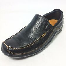 COLE HAAN Tucker Venetian Solid Black Leather Driving Loafer Size 7