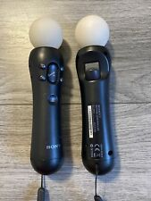 OFFICIAL SONY - PLAYSTATION MOVE MOTION CONTROLLERS - 2 TWIN PACK - WORKS FINE