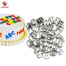 37Pc Cookie Cutter Alphabet Letter Baking Cake Chocolate Metal Cutter Mold Mould