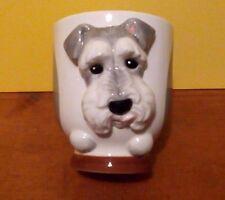 SCHNAUZER Dog Porcelain Coffee Mug Cup Ceramic Figurine Quality DNC Arcadia NIB