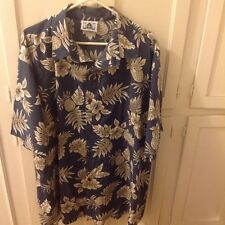 Very Large men's Hawaiian Shirt by HWY 1 made in the USA 100% cotton
