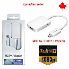 Micro USB MHL to HDMI HDTV Cable Adapter For Samsung Galaxy S5 S4 S3 Note 2 3 4