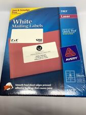 Avery White Mailing Labels 5163 Laser Quick Peel 2x4 1250 Labels