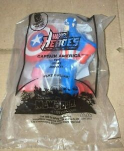 2010 Marvel Super Heroes McDonalds Happy Meal Toy - Captain America #7