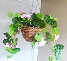 Artificial Begonia Flowers Basket Hanging