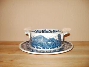 Villeroy & Boch Blue Castle Suppentasse mit Untertasse gebraucht