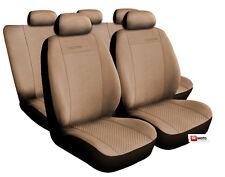 UNIVERSALE Coprisedili Set Completo Alcantara Beige fit Nissan Qashqai