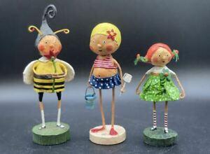 LORI MITCHELL Figurines SET OF 3, Little Bumblebee, Beach Babe & Sweet Kelly