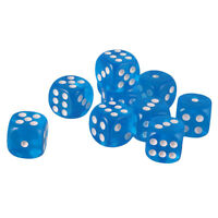 10 Pieces 16mm Acrylic Six Sided Dice D6 Dice for Playing D&D RPG Board Game