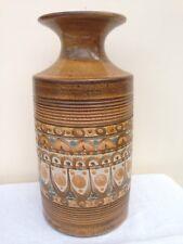 """Retro Bourne Denby 'Minaret' Pattern Vase Shape 803 9"""" Designed by David Yorath"""