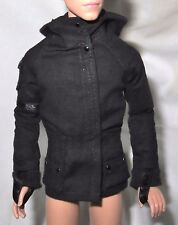TOP ~ KEN DOLL HUNGER GAMES MOCKINGJAY PEETA GALE BLACK HOODED LONG SLEEVE SHIRT