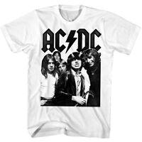 ACDC Rock Group Vintage Photo Men's T Shirt Metal Band Album Tour Concert Merch