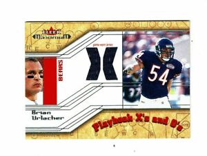 2002 Fleer Maximum Playback X's Brian Uhrlacher Game Jersey card  Chicago Bears