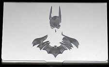 Batman 2 Comic Book Movie Engraved Business Card Case Patch Holder Gift BUS-0326