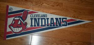 1980s Cleveland Indians Pennant Chief Wahoo MLB Major League Baseball
