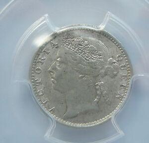 STRAITS SETTLEMENTS Malaysia 10 cents 1899 PCGS AU 55 Britain UNC RARE & KEY