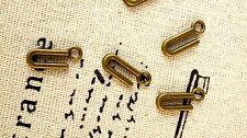 Alphabet letter U charm bronze vintage style jewellery supplies C32