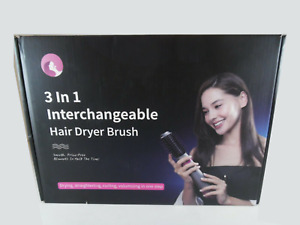 3-IN-1 HOT AIR HAIR BRUSH DRYER STYLER,STRAIGHTENER, & CURLER