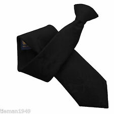 Schwarz Paisley hochwertige britische Hergestellt Clip On Krawatte