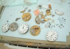 watchmakers  Elgin Usa pocket watch movement parts Only spare Elgin USA watch